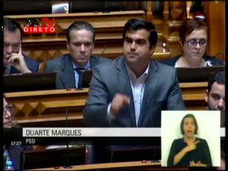 Duarte Marques fala na Assembleia sobre as Bolsas da Acção Social Escolar