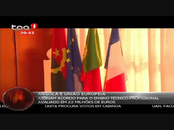 Angola e União Europeia assinam acordo para o ensino técnico-profissional