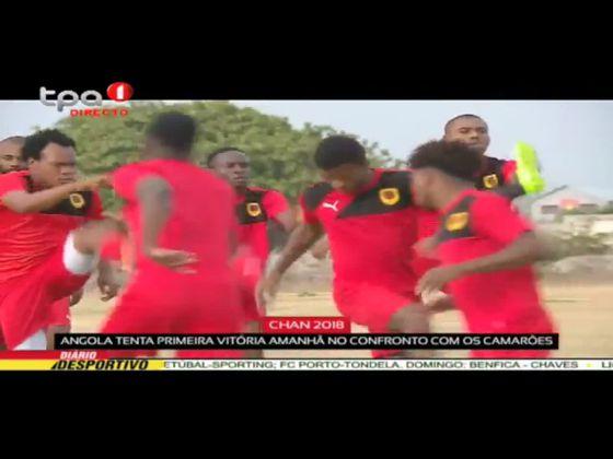 """Angola tenta primeira victória amanhã diante dos Camarões """"CAN 2018"""""""
